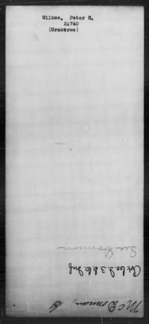 Wilkes, Peter S - State: [Blank] - Year: [Blank]