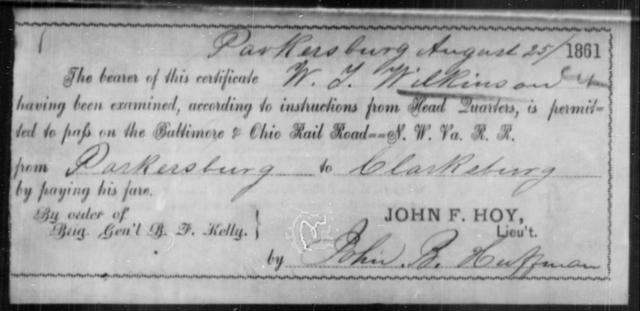 Wilkinson, W T - State: Ohio - Year: 1861