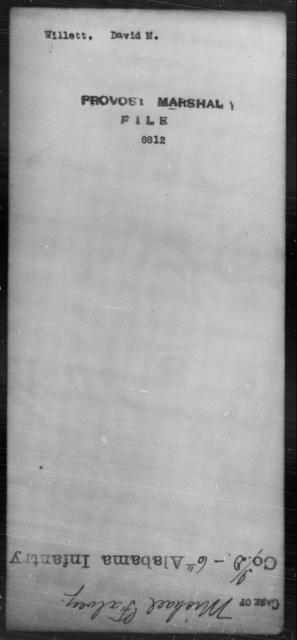 Willett, David M - State: [Blank] - Year: [Blank]