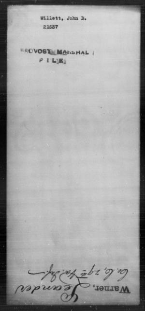 Willett, John D - State: [Blank] - Year: [Blank]