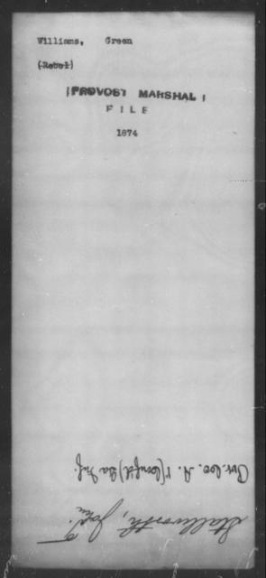 Williams, Green - State: [Blank] - Year: [Blank]