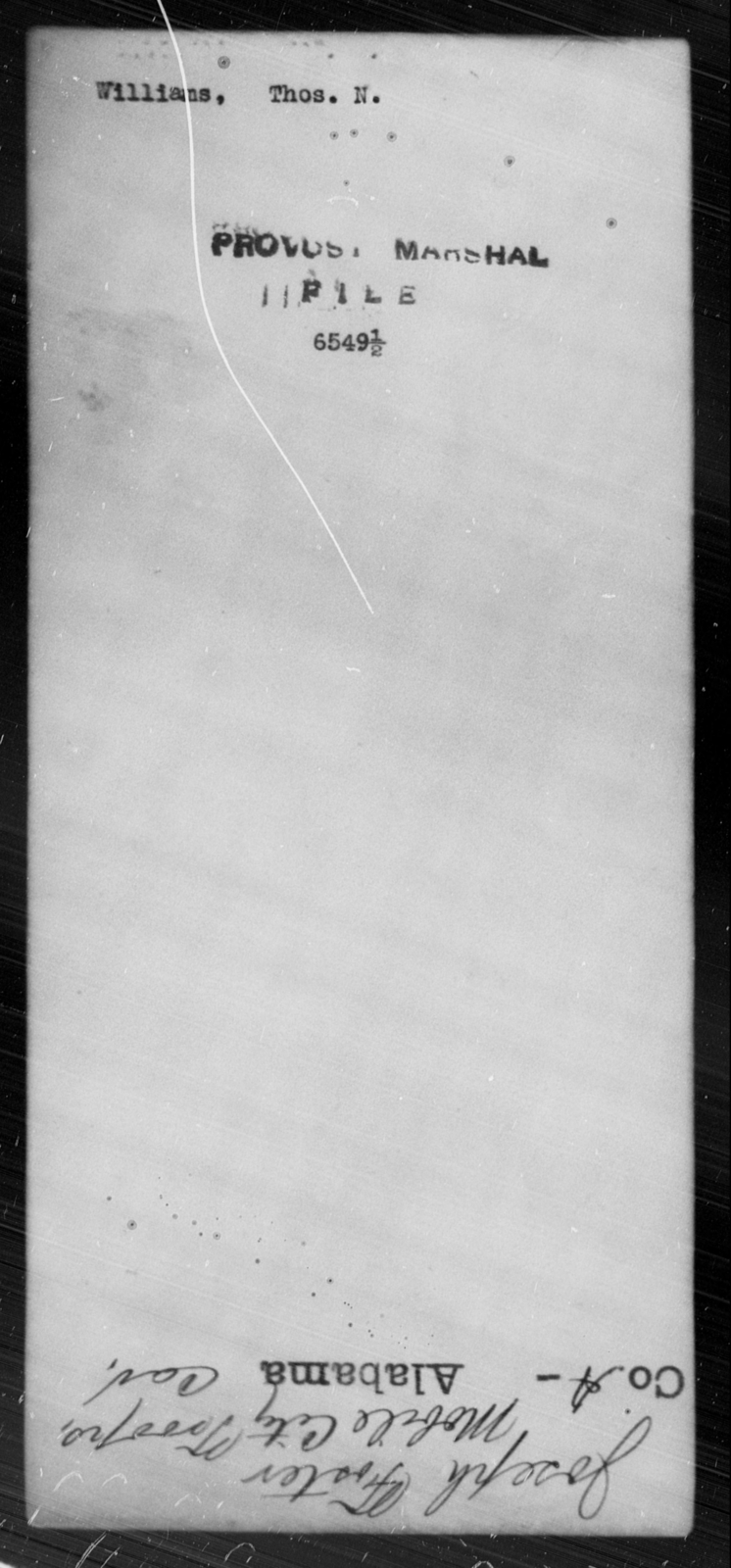 Williams, Thos N - State: [Blank] - Year: [Blank]