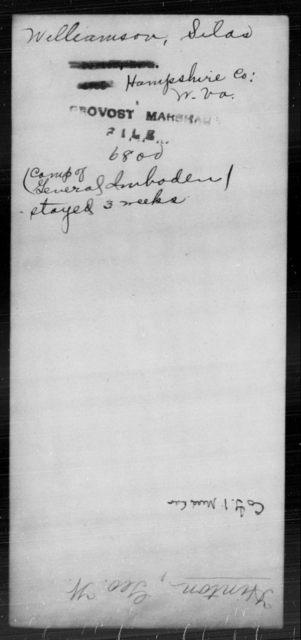 Williamson, Silas - State: Virginia - Year: [Blank]