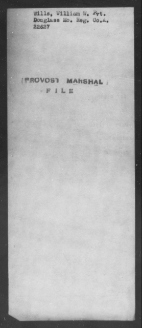 Wills, William W - State: Missouri - Year: [Blank]