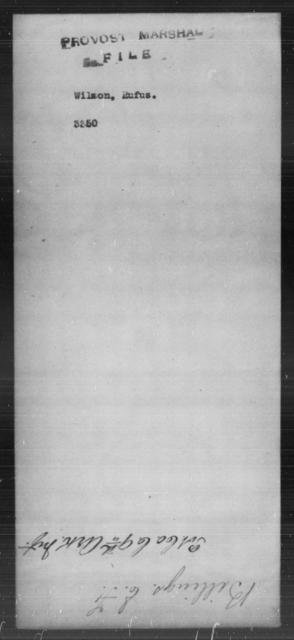 Wilson, Rufus - State: [Blank] - Year: [Blank]