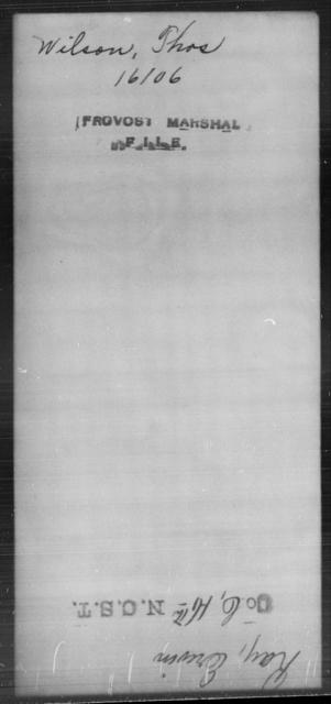 Wilson, Thos - State: [Blank] - Year: [Blank]