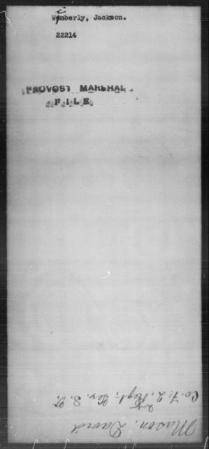 Wimberly, Jackson - State: [Blank] - Year: [Blank]