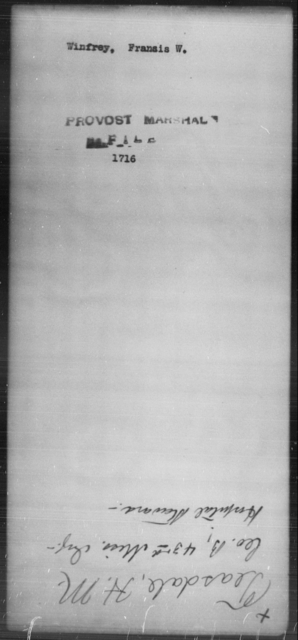 Winfrey, Francis W - State: [Blank] - Year: [Blank]