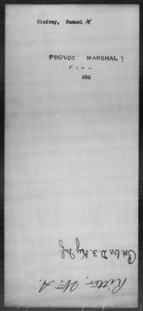 Winfrey, Samuel W - State: [Blank] - Year: [Blank]