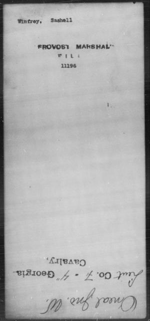 Winfrey, Sashell - State: [Blank] - Year: [Blank]