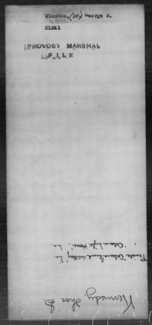Winston, George B - State: [Blank] - Year: [Blank]