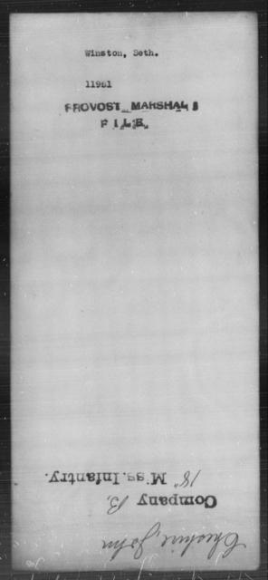 Winston, Seth - State: [Blank] - Year: [Blank]