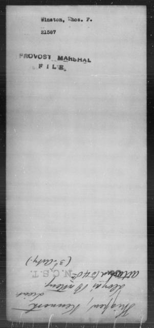 Winston, Thos F - State: [Blank] - Year: [Blank]
