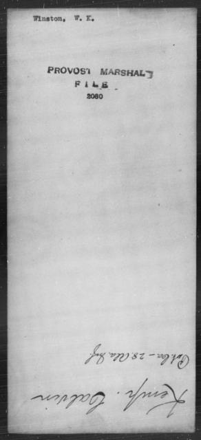Winston, W K - State: [Blank] - Year: [Blank]