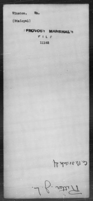 Winston, Wm - State: [Blank] - Year: [Blank]