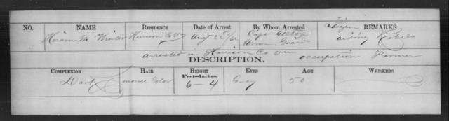 Winter, Hiram M - State: Virginia - Year: 1862