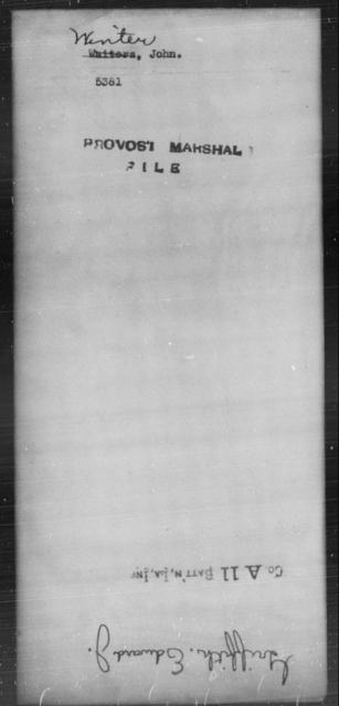 Winter, John - State: [Blank] - Year: [Blank]