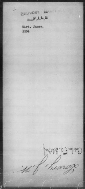 Wirt, James - State: [Blank] - Year: [Blank]