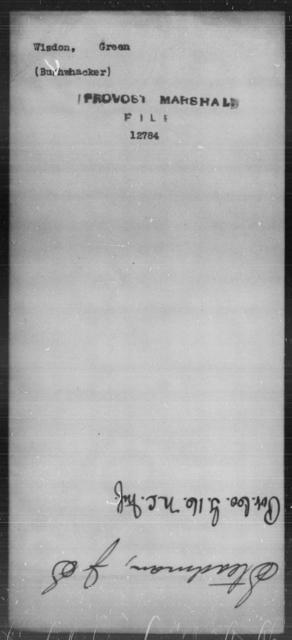 Wisdon, Green - State: [Blank] - Year: [Blank]