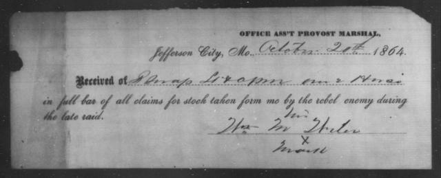 Witer, Wm M - State: Missouri - Year: 1864