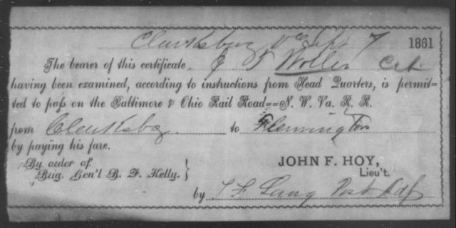 Woller, J T - State: Ohio - Year: 1861