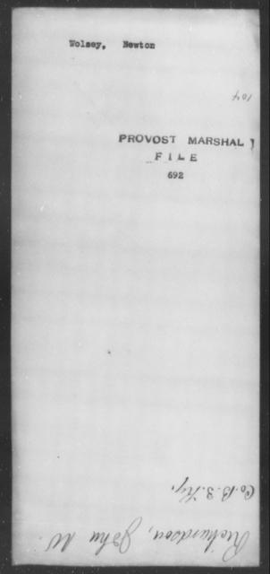 Wolsey, Newton - State: [Blank] - Year: [Blank]