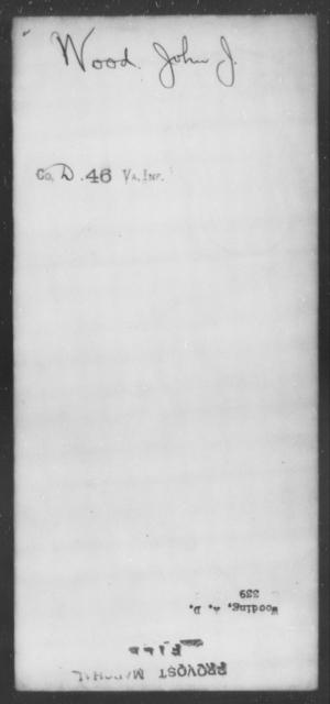Wood, John J - State: Virginia - Year: [Blank]