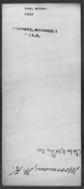 Wood, Mathew - State: [Blank] - Year: [Blank]