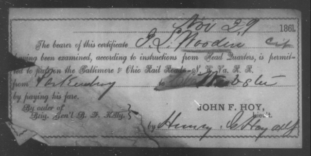Wooden, J L - State: Ohio - Year: 1861