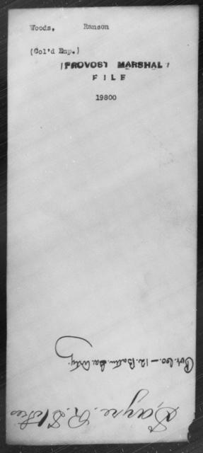Woods, Ranson - State: [Blank] - Year: [Blank]