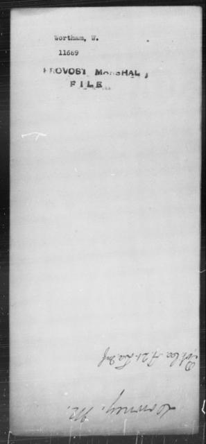 Wortham, W - State: [Blank] - Year: [Blank]