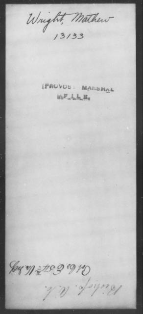 Wright, Mathew - State: [Blank] - Year: [Blank]