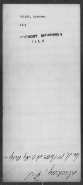 Wright, Spencer - State: [Blank] - Year: [Blank]