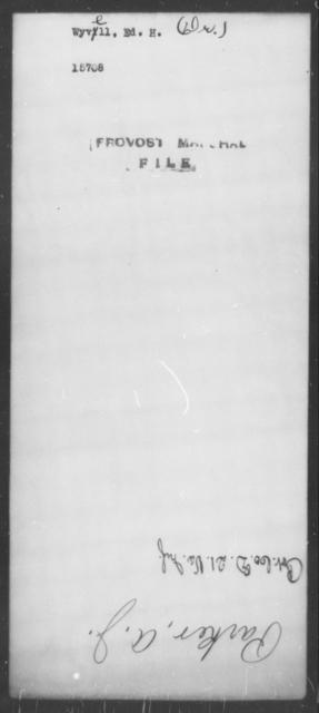 Wyvell, Ed H - State: [Blank] - Year: [Blank]