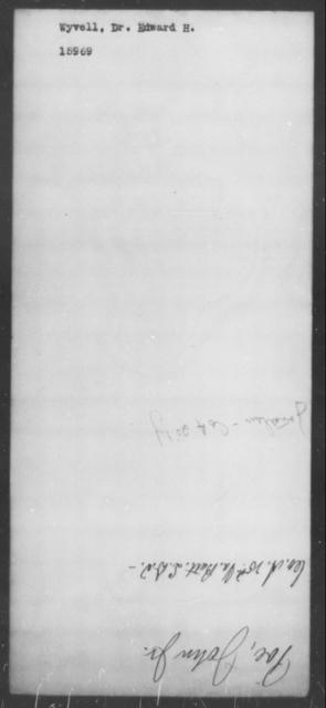 Wyvell, Edward H - State: [Blank] - Year: [Blank]