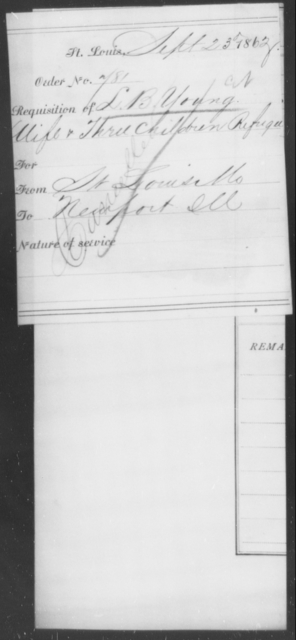 Young, L B - State: Missouri - Year: 1863