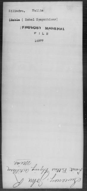 Zillafro, Nellie - State: [Blank] - Year: [Blank]