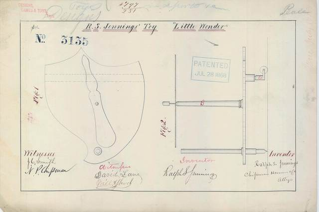 "Patent Drawing for R. S. Jennings Toy ""Little Wonder"""