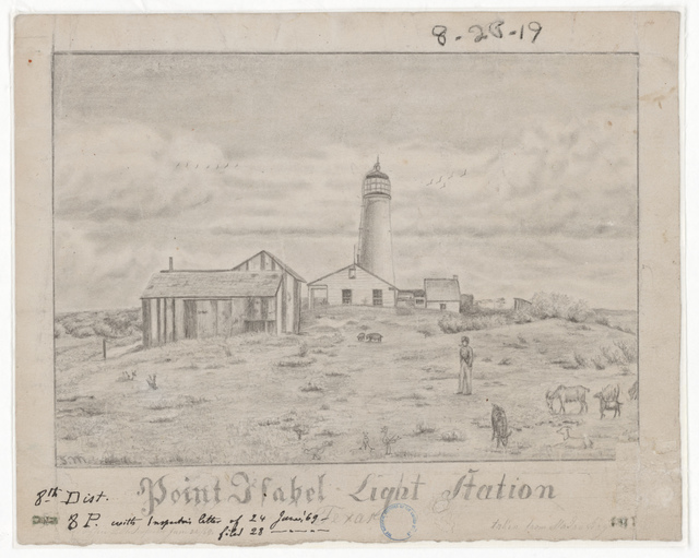 Drawing of the Point Isabel Lighthouse, Texas