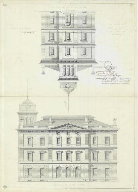 Presentation Drawing of Columbia SC Courthouse and Post Office