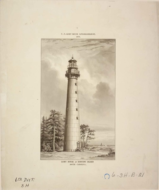 View of Lighthouse at Hunting Island, South Carolina