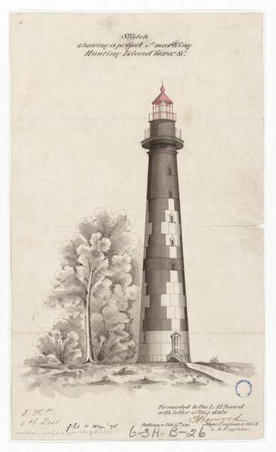 Drawing of the Lighthouse at Hunting Island, South Carolina
