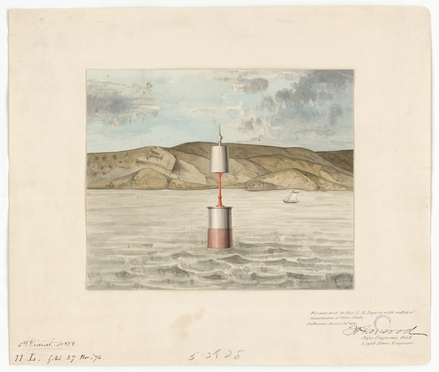 Drawing of the Buoy at Lower Cedar Point, Maryland