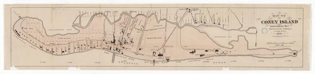 Map of Coney Island and Sheepshead Bay, New York