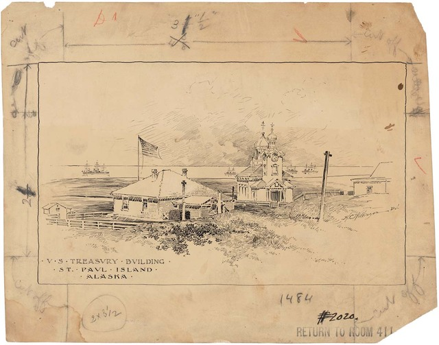 Plan for the U.S. Treasury Building on Saint Paul Island, Alaska