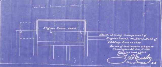 Enlargement of Engine Hatch on Berth Deck