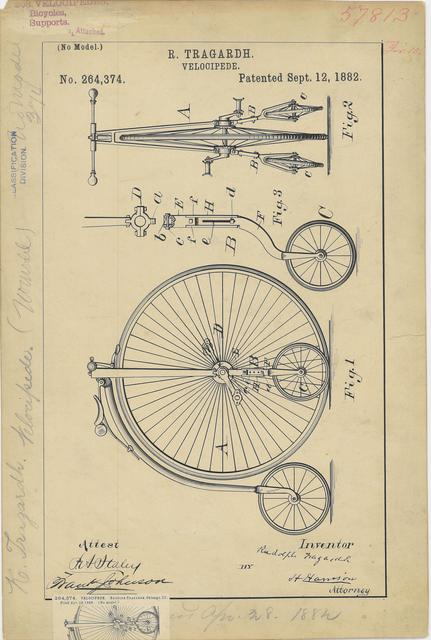 Drawing of a Velocipede