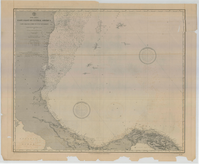 Nautical Chart of the East Coast of Central America