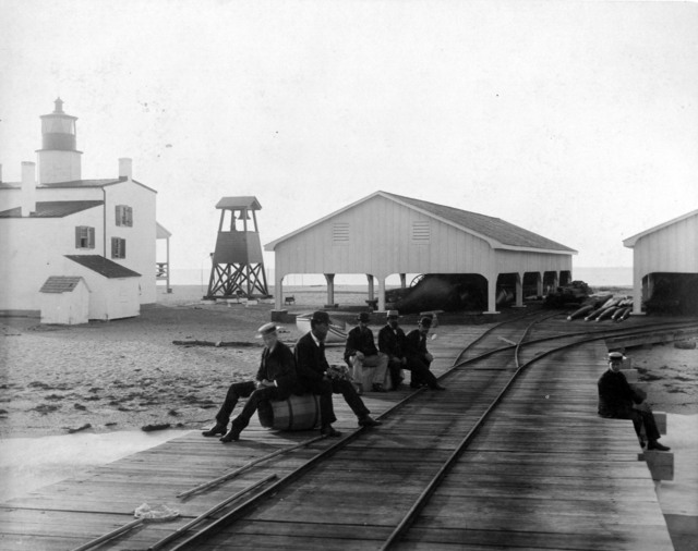 Photograph of Point Lookout Light Station and Depot in Maryland