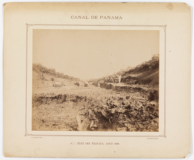 Digging Work in Progress on the French Construction of the Panama Canal